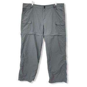 Magellan Outdoors Convertible Pants Gray Pockets